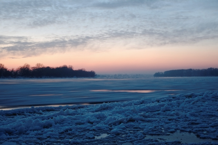 Ice flot on Vistula - Kra na Wiśle