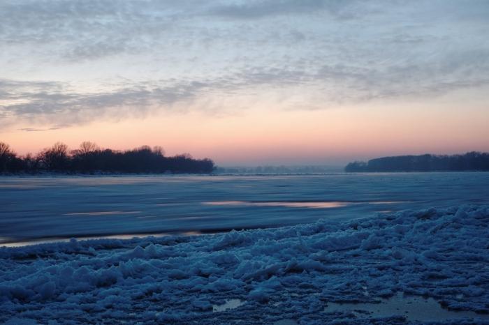 Ice flot on Vistula - Kra na Wiśle